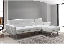 Sofá chaise-longue cama km-16040SB blanco