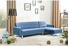 Sofá chaise-longue cama km-16040SB color azul