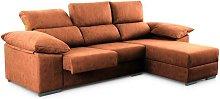 ®- Sofá Chaiselongue CAPRI, 4 plazas, asientos