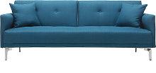 Sofá convertible diseño 3 plazas azul petróleo