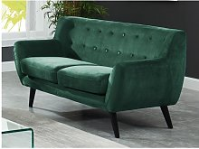 Sofá de 2 plazas de terciopelo SERTI - Verde