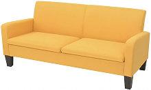 Sofá de 3 plazas 180x65x76cm amarillo Vida XL