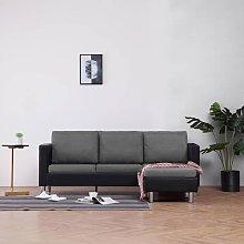 Sofá de 3 plazas con cojines piel sintética