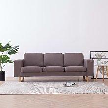 Sofa de 3 plazas de tela color gris topo