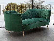 Sofá de 3 plazas de terciopelo ADELE - Verde
