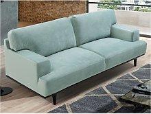 Sofá de 3 plazas de terciopelo BARNABE - Verde