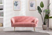 Sofá de 3 plazas DOMUR de terciopelo – Rosa