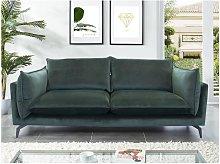 Sofá de 3 plazas KESTREL de terciopelo - Verde