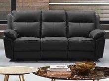 Sofá de 3 plazas relax de piel de búfalo PAKITA