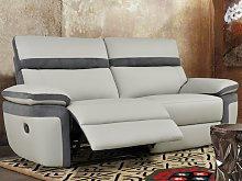 Sofá de 3 plazas relax de piel sintética y
