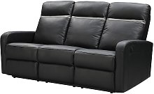 Sofá de 3 plazas relax eléctrico de piel