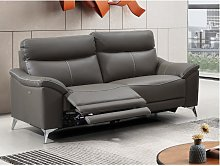 Sofá de 3 plazas relax eléctrico de piel de