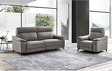 Sofá de 3 plazas relax eléctrico de tela BACCI -