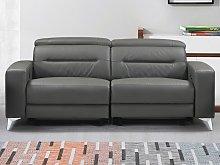 Sofá de 3 plazas relax eléctrico PAULY de piel -