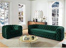 Sofá de 3 plazas y sillón chesterfield STANLEY -