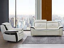 Sofá de 3 plazas y sillón relax eléctrico de