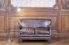 Sofá de cuero de diseño industrial Turner
