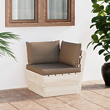 Sofa de esquina de palets de jardin cojines abeto
