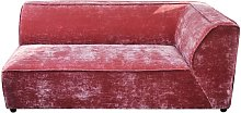 Sofá de esquina rosa Floyd
