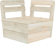 Sofa de esquina seccional de palets madera abeto