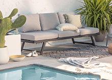 Sofá de exterior reclinable Libanc Gris Sklum