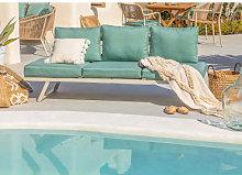 Sofá de exterior reclinable Libanc Verde Abeto