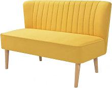 Sofá de tela amarillo 117x55,5x77cm Vida XL