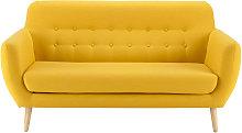 Sofá escandinavo de 2/3 plazas amarillo