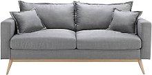 Sofá escandinavo de 3 plazas gris claro