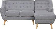 Sofá esquinero tapizado gris claro MOTALA