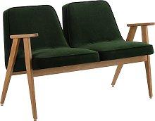 Sofá estilo Mid-Century doble asiento Velvet /