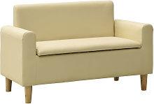 Sofa infantil de 2 plazas de cuero sintetico