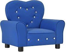 Sofá infantil de cuero sintético azul - Azul -