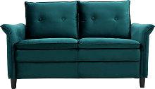 Sofá moderno en terciopelo azul petróleo 2