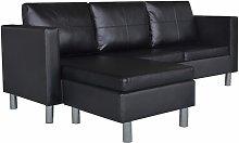 Sofá Modular de 3 Plazas con Cojines Cuero