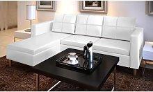 Sofá modular de 3 plazas de cuero artificial