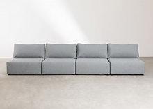 Sofá Modular de 4 Plazas Kata Gris Sklum