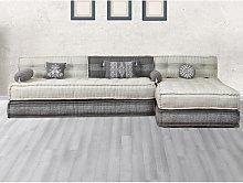 Sofá modular de tela CHASE - Gris claro y gris