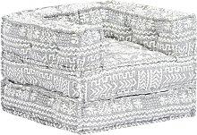 Sofá modular de tela gris - Hommoo