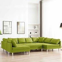 Sofá Modular de Tela Verde - Verde - Vidaxl