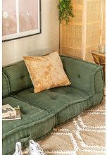 Sofá Modular Esquinero en Algodón Dhel Verde
