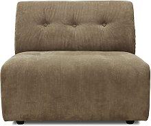 Sofá modular Vint, marrón