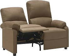 Sofá reclinable de 2 plazas de tela gris taupe -