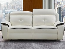 Sofá relax eléctrico de 3 plazas de piel