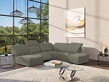 Sofá relax panorámico y modular de tela
