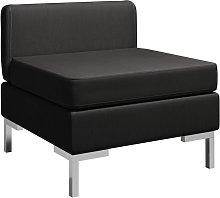 Sofá Tela Central Seccional 1 Pieza Negro - Negro