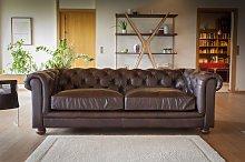 Sofá vintage Chesterfield Oscuro