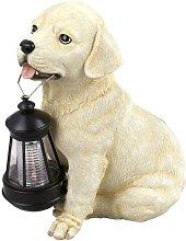 Solar LED de perro de luz jardín de esculturas