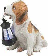 Solar LED Luz al aire libre perro lámpara de
