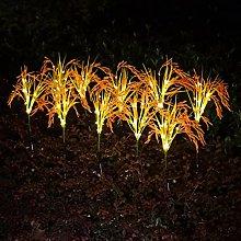 SOLUSTRE 4 Unids Jardín Solar Flores Luces